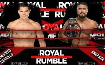 Andrade vs Humberto Carrillo- Royal Rumble 2020
