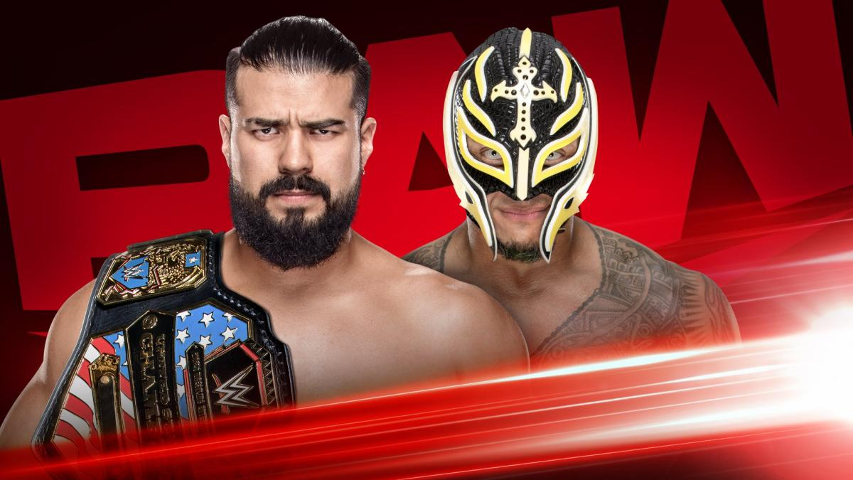 Andrade vs Rey Mysterio RAW 6 January 2020