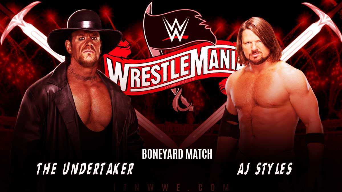 The Undertaker vs AJ Styles - WWE WrestleMania 36 2020