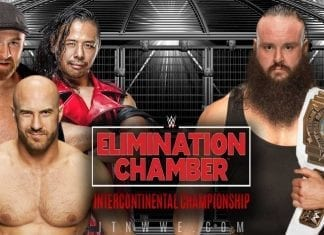 Braun Strowman vs The Shinsuke Nakamura & Cesaro & Sami Zayn - WWE Intercontinental Championship at Elimination 2020