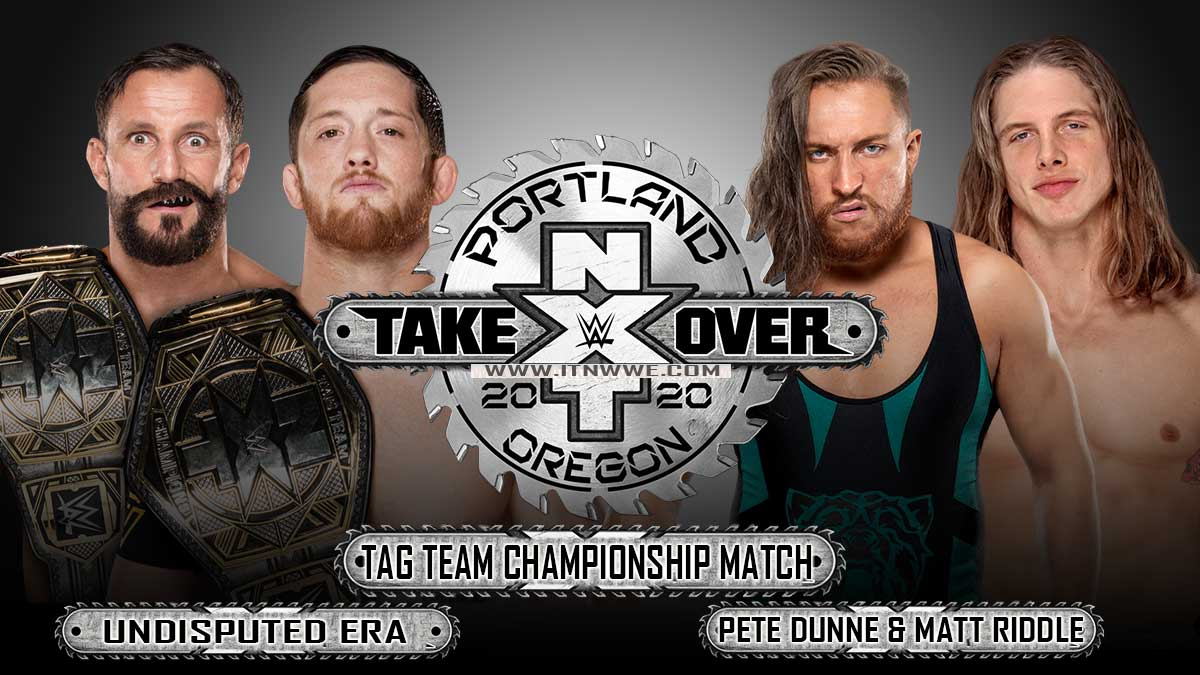 Undisouted Era vs Matt Riddle & Pete Dunne, NXT Championship,