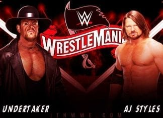 The Undertaker vs AJ Styles WrestleMania 36 2020