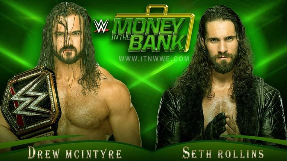 Drew McIntyre vs Seth Rollins WWE Money in the Bank 2020