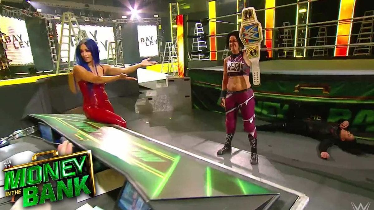 Sasha Banks Helps Bayley Retain Title Against Tamina at MITB