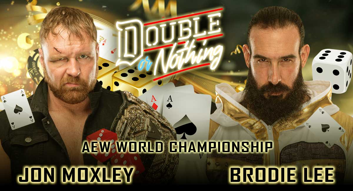 Jon Moxley vs Brodie Lee AEW World Championship Double or Nothing 2020