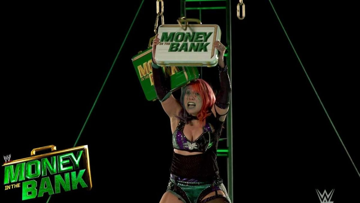 Asuka Wins Money in the Bank Ladder Match