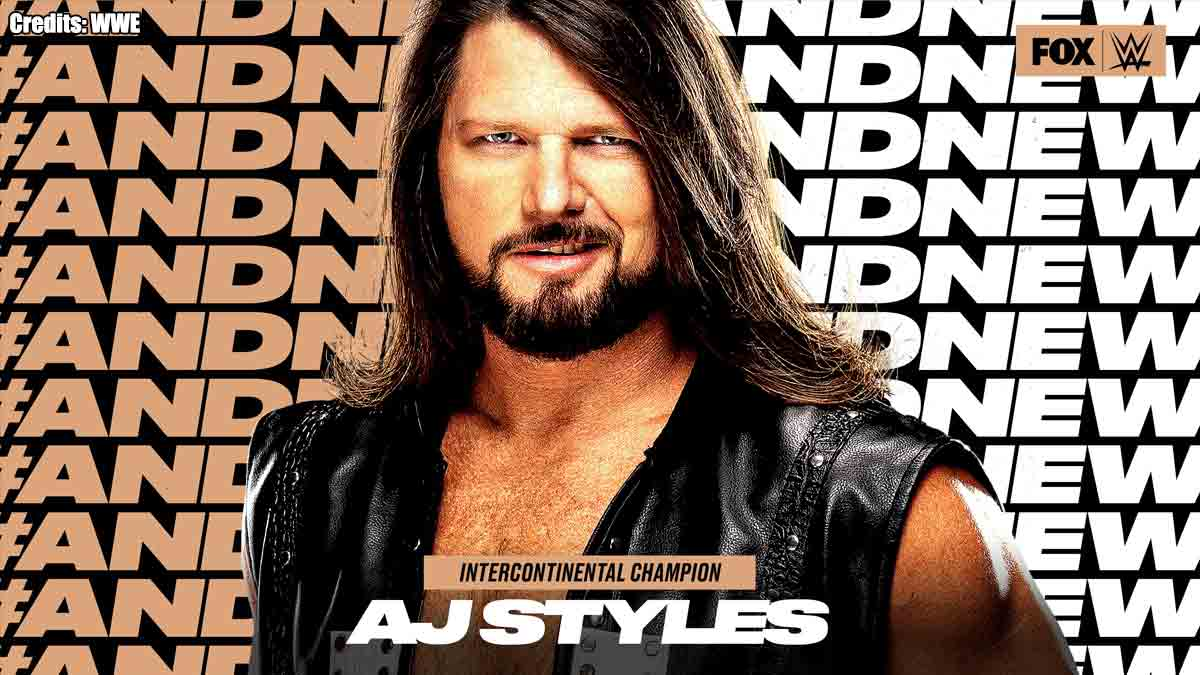 AJ Styles WWE Intercontinental Champion