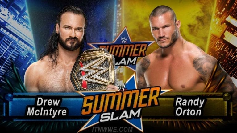 McIntyre To Defend WWE Title Against Orton At SummerSlam