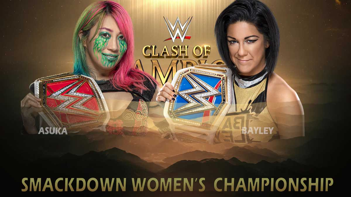 Bayley vs Asuka SmackDown Women WWE Clash of champions 2020