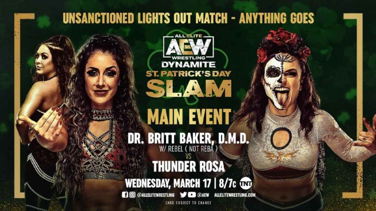 Loaded Card Announced for St. Patrick Day's Slam AEW Dynamite