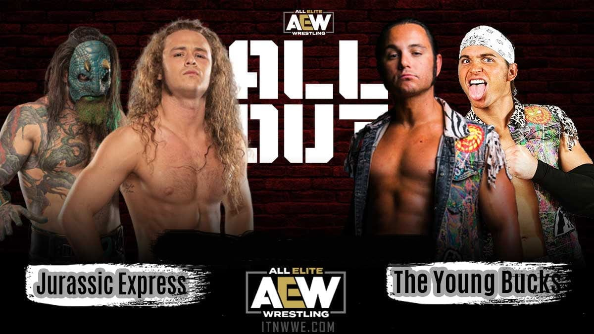 Jurrasic Express vs Young Bucks AEW All Out 2020