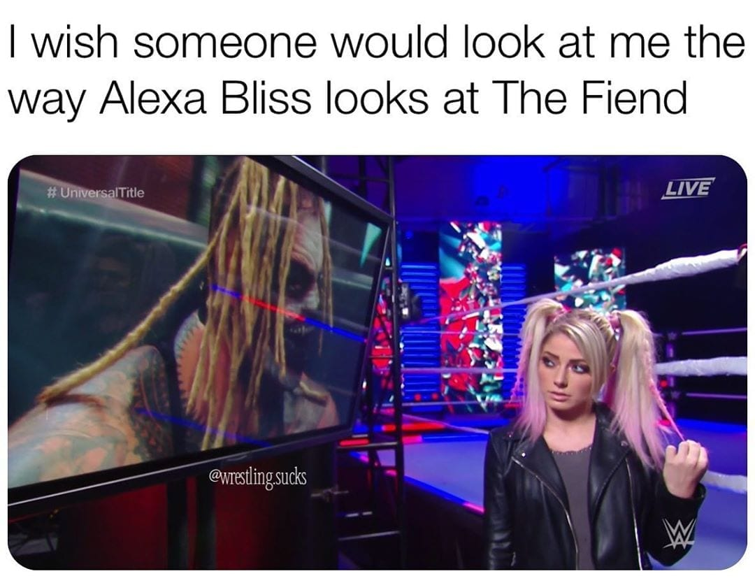 Alexa Bliss Harley Quinn with the Fiend