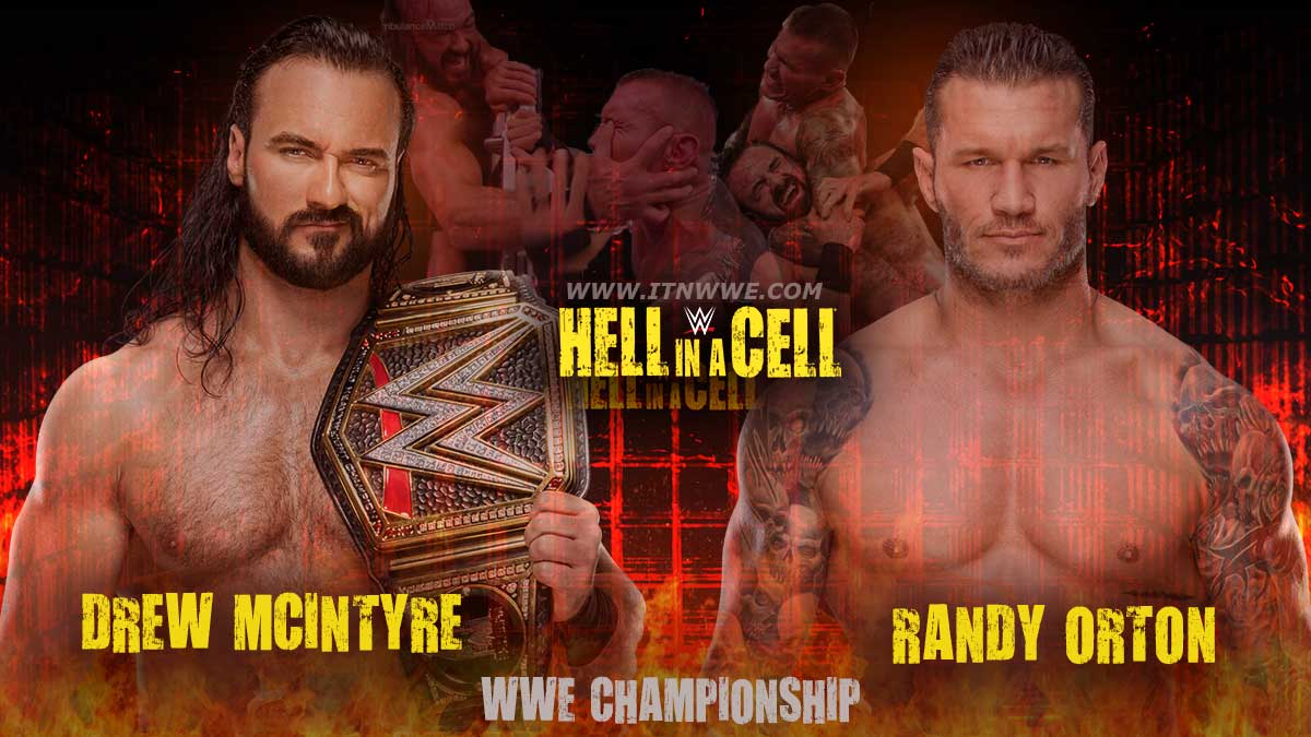 Drew Mcintyre vs Randy Orton WWE Championship Hell In A Cell 2020