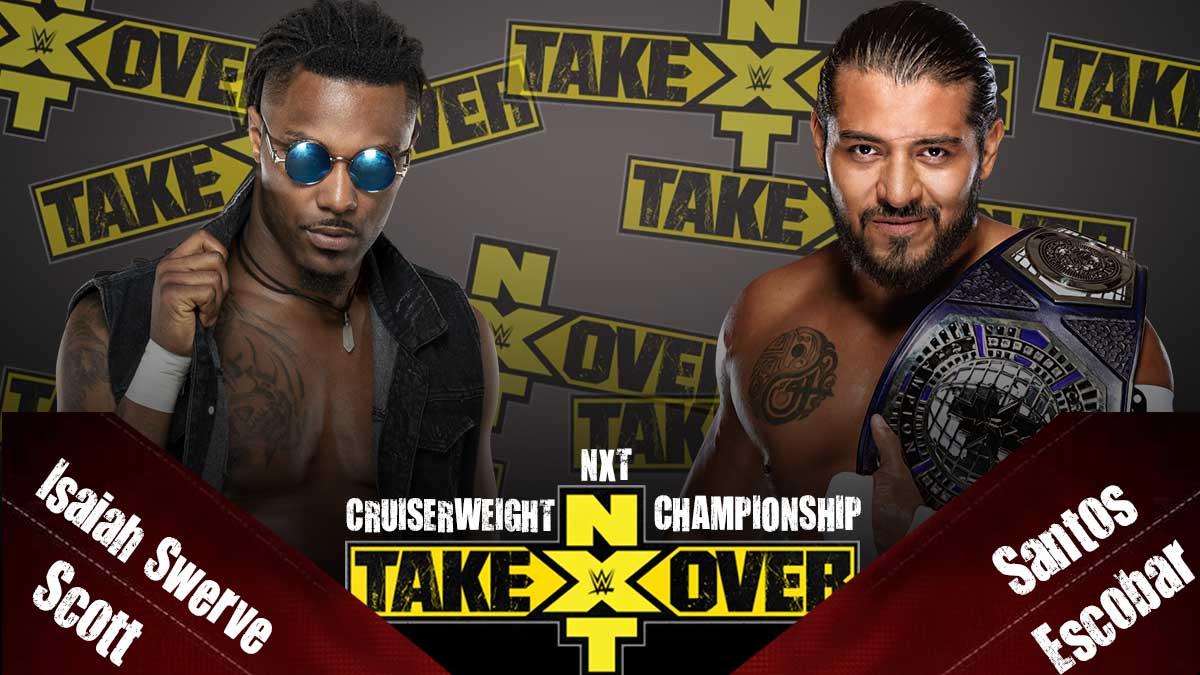 Santos Escobar vs Isiah Swerve Scott - NXT Cruiserwieght Championship, NXT TakeOver 31 2020