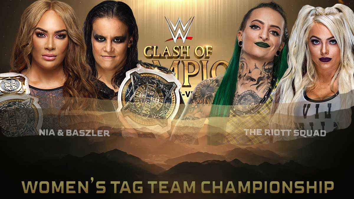 Nia Jax & Shayna Baszler vs The Riott Squad - WWE Clash of Champions