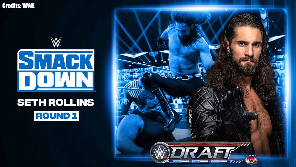 Seth Rollins moved to WWE SmackDown in Draft 2020