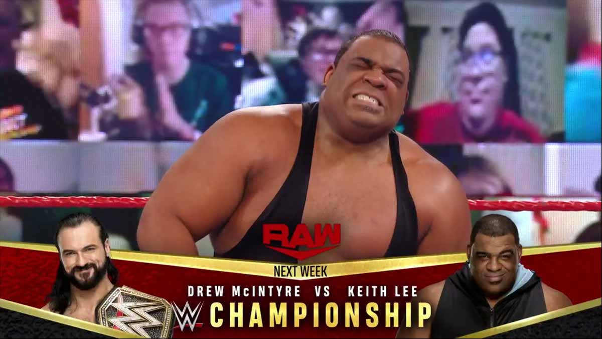 Keith Lee RAW 29 December
