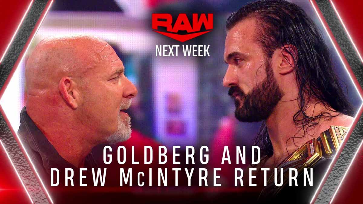 Drew McIntyre & Goldberg WWE RAW 25 January 2021