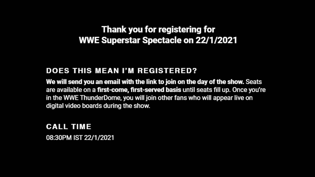 WWE SuperStar Spectacle Taping Date Confirmed