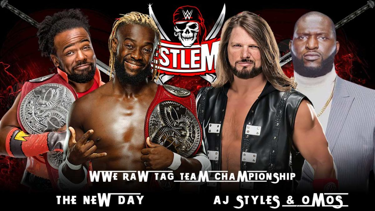 The New Day vs AJ Styles and Omus WWE Raw Tag Team Championship Match WrestleMania 37 2021