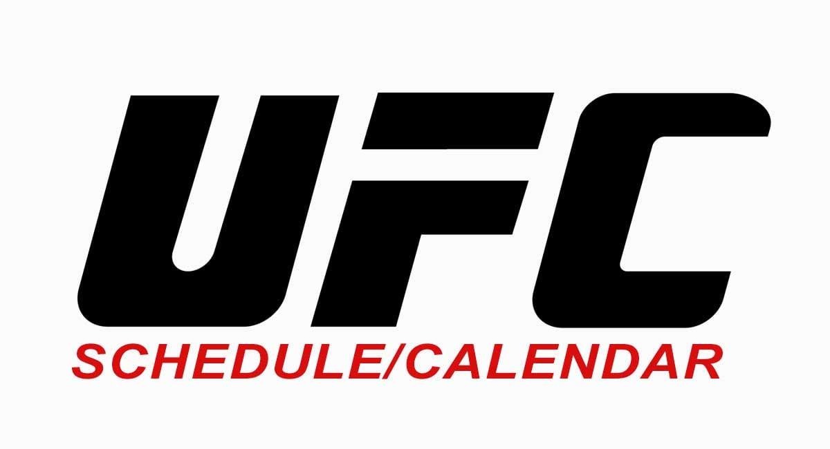 UFC Schedule Calendar