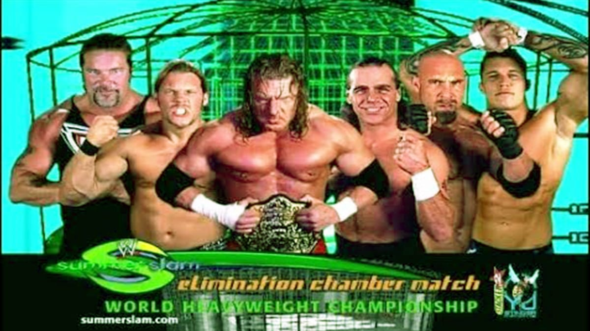 SummerSlam 2003 Elimination Chamber Match For World Heavyweight Championship