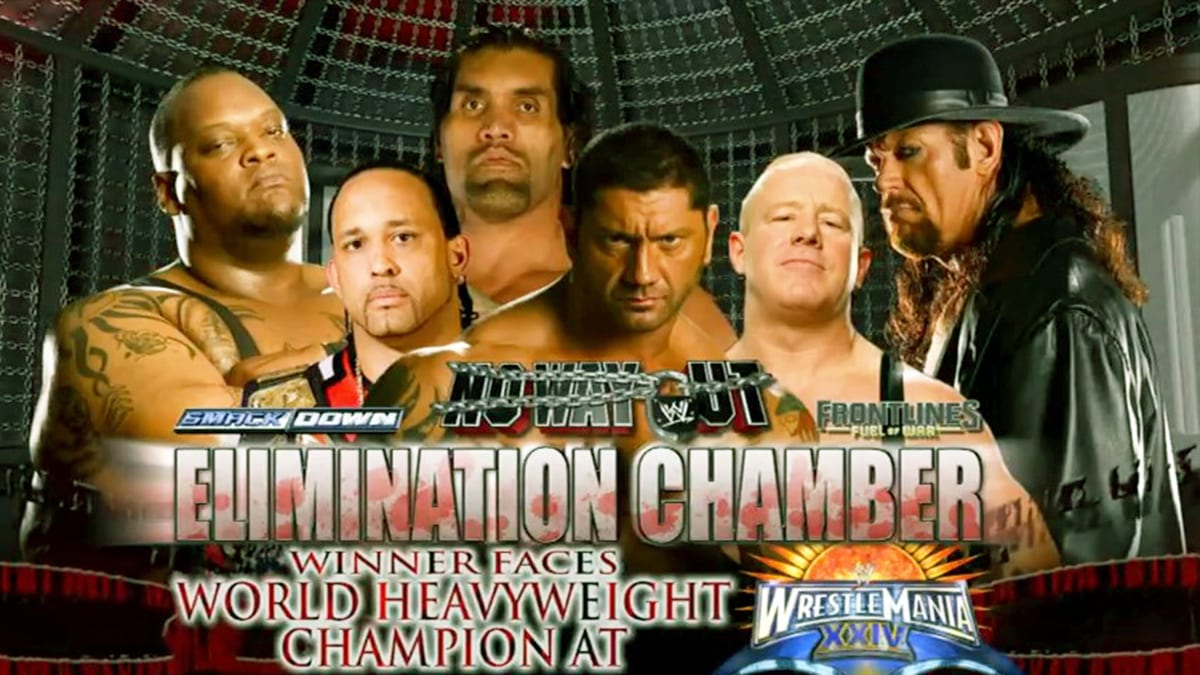 No Way Out 2008 Elimination Chamber Match For World Heavyweight Championship match at WrestleMania XXIV