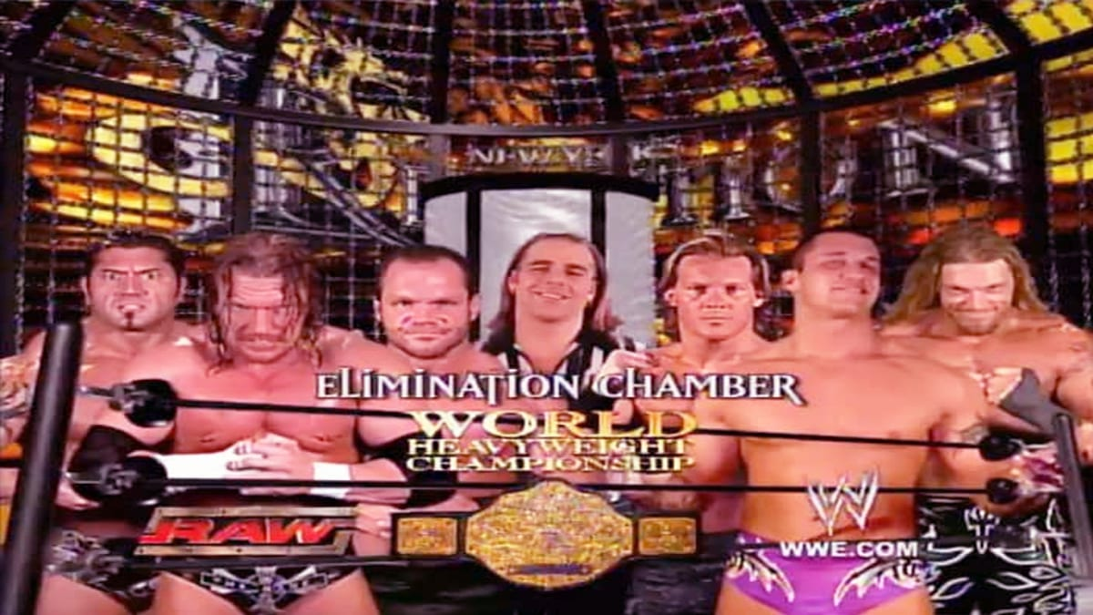 New Year's Revolution 2005 Elimination Chamber Match For World Heavyweight Championship
