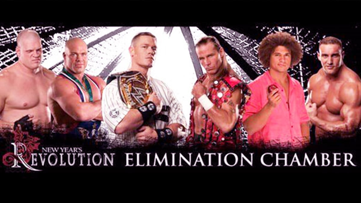 New Year's Revolution 2006 Elimination Chamber Match For WWE Championship