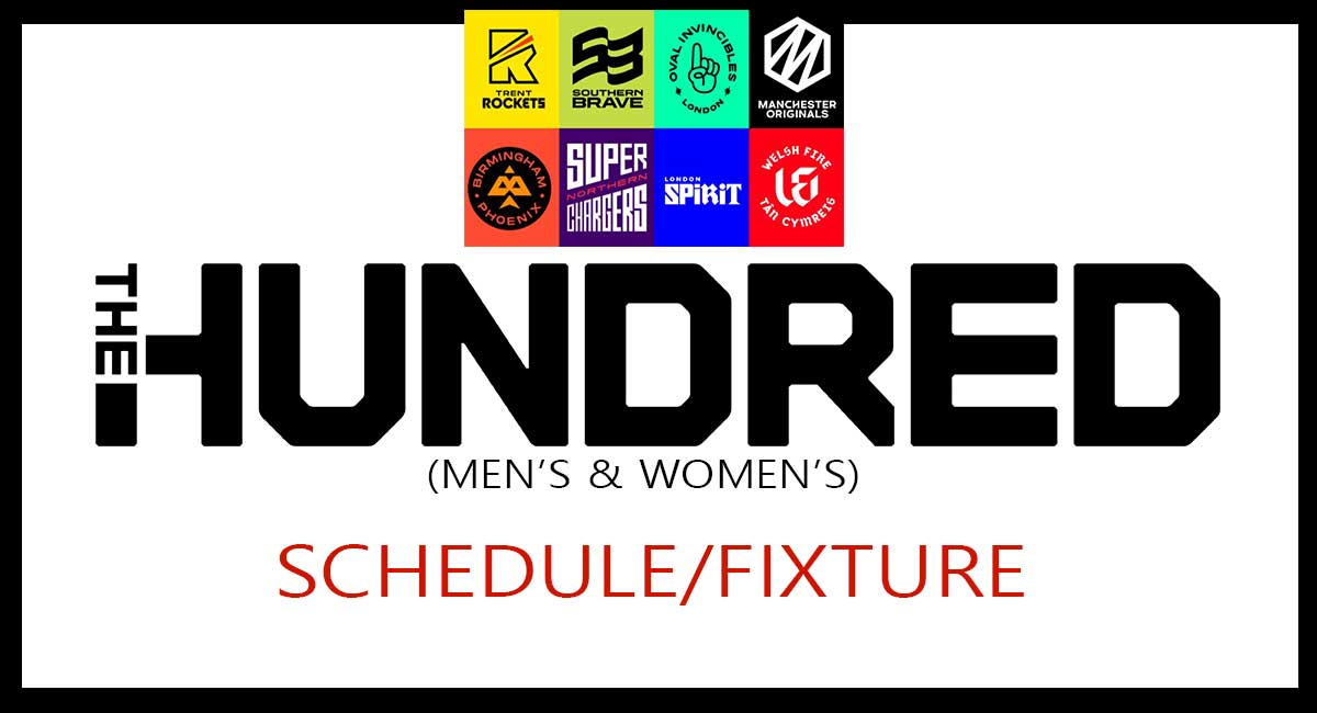 ECB The Hundred 2021 Schedule