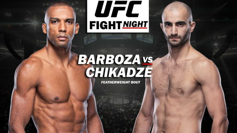 UFC Vegas 35: Barboza vs Chikadze- Results, Fight Card, Date, Location, Start Time, How to Watch