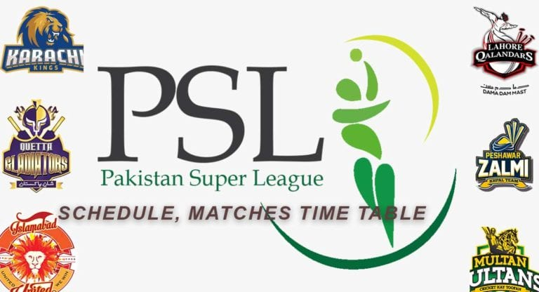 PSL 2021: Schedule & Fixture, Time Table, list of Upcoming Matches