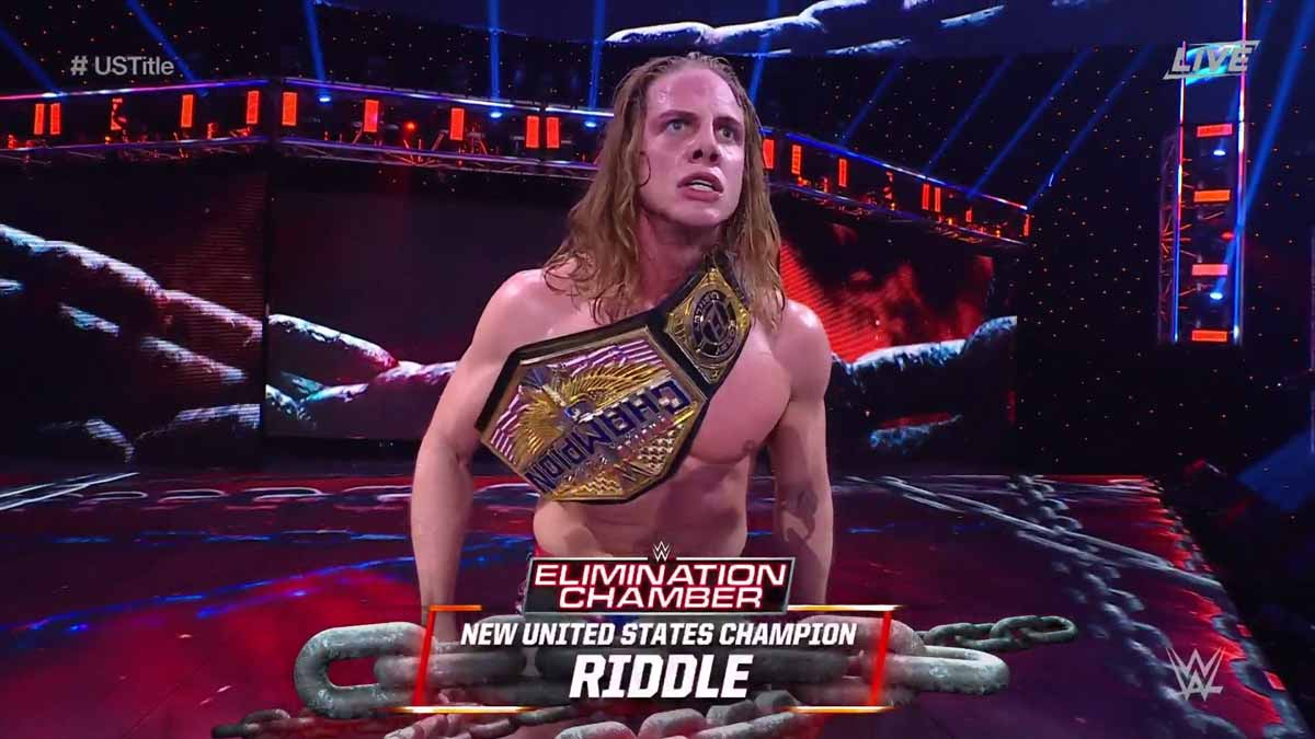 Mat Riddle win WWE United States Championship at Elimination Chamber 2021
