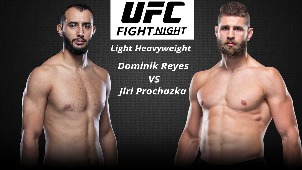 UFC Fight Night Dominik Reyes vs Jiri Prochazka