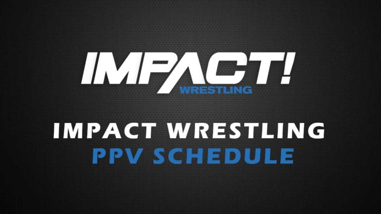 IMPACT Wrestling PPV Calendar/Schedule for 2021