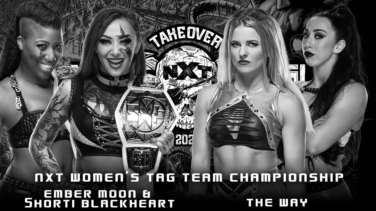 Ember Moon & Shotzi Blackheart(c) vs Indi Hartwell & Candice LeRae NXT TakeOver Stand & Deliver 2021