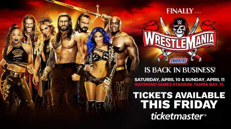 WWE Reduced Number Of Tickets For WrestleMania 37!