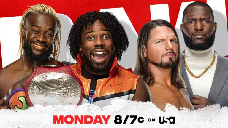 AJ Styles vs Xavier Woods Announced to RAW 5 April Episode