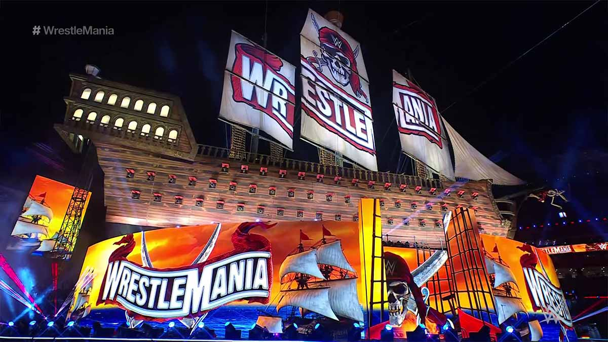 WrestleMania 37 Pirate Ship Set