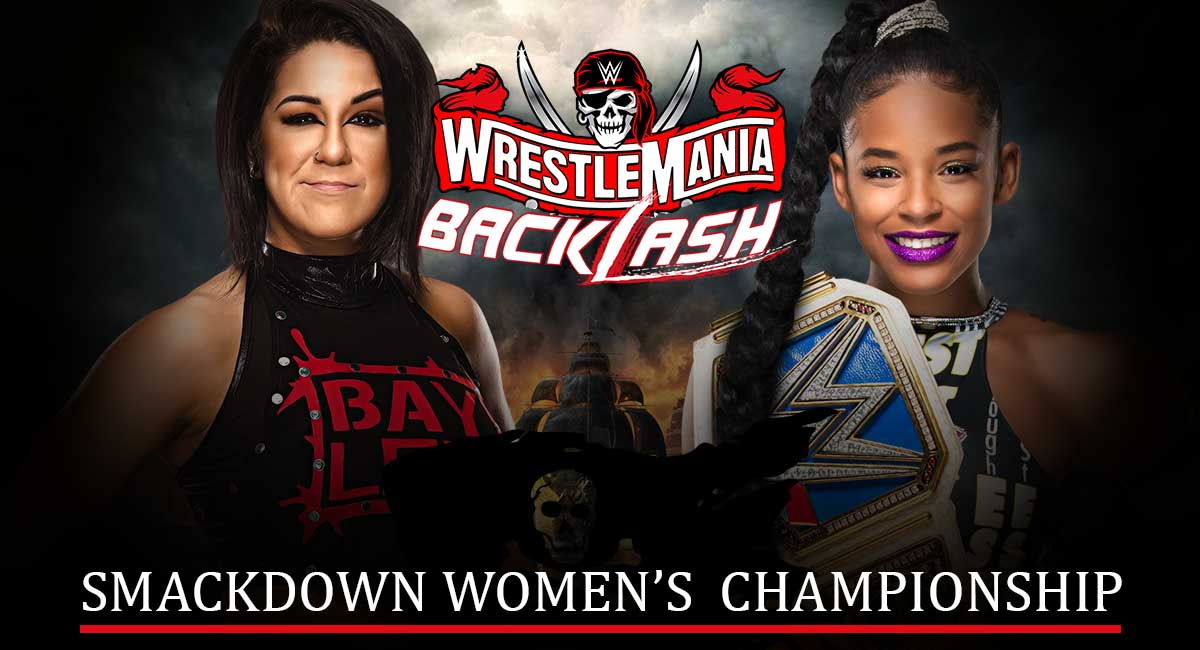 Bianca Belair vs Bayley Wrestlemania Backlash 2021