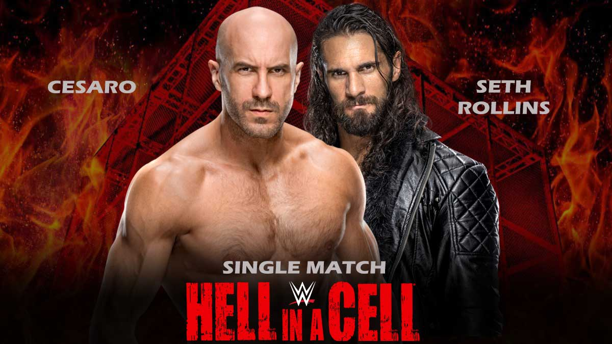 Cesaro vs Seth Rollins Single Match Hell In a Cell 2021