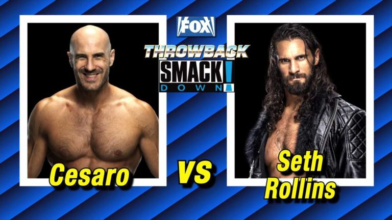 Cesaro vs Seth Rollins Announced for SmackDown Throwback Edition