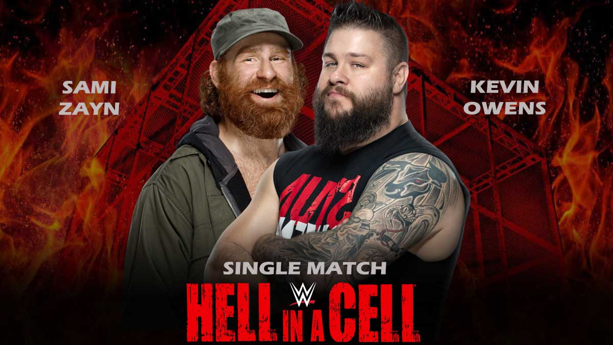 Kevin Owens vs Sami Zayn WWE Hell in a Cell 2021