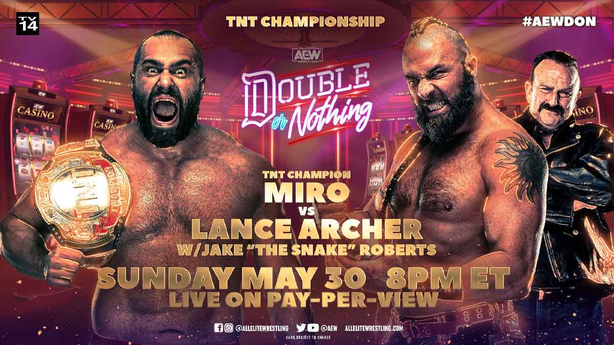 Miro vs Lance Archer AEW Double or Nothing 2021
