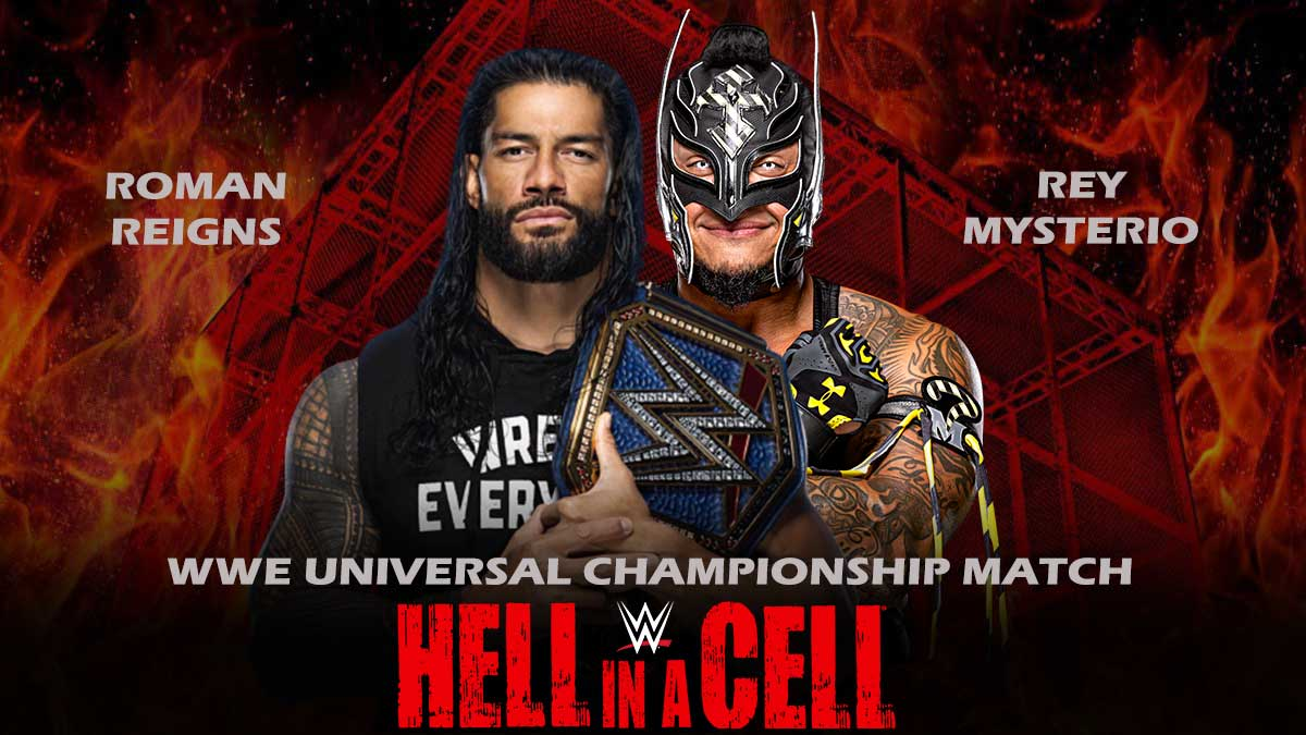 Roman-Reigns-vs-Rey-Mysterio-WWE-Universal-Championship-Match-Hell-In-A-Cell 2021