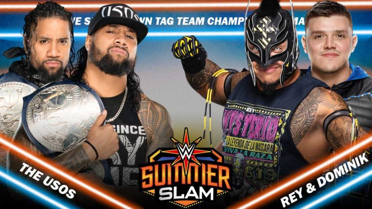 Usos vs Mysterios SmackDown Tag Title Rematch Announced for Summerslam