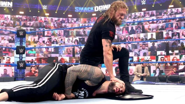 Edge vs Roman Reigns Official for Money in the Bank 2021