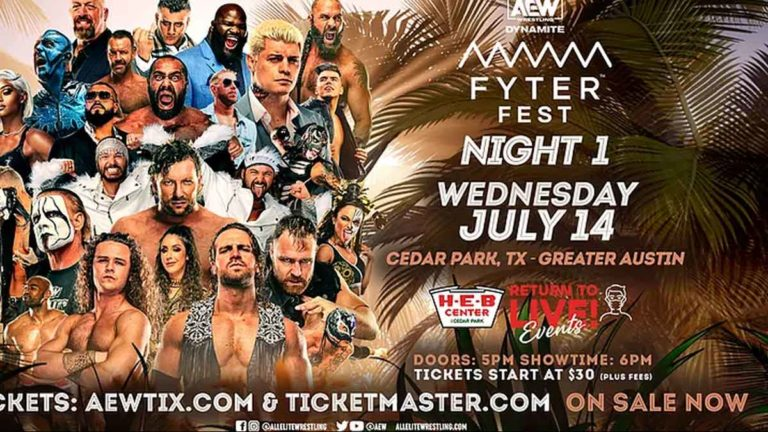 AEW Fyter Fest 2021- Results, Match Card, Date, Start Time, Location, How to Watch