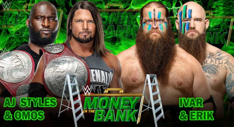 AJ Styles & Omos vs The Viking Raiders Added to Money in the Bank