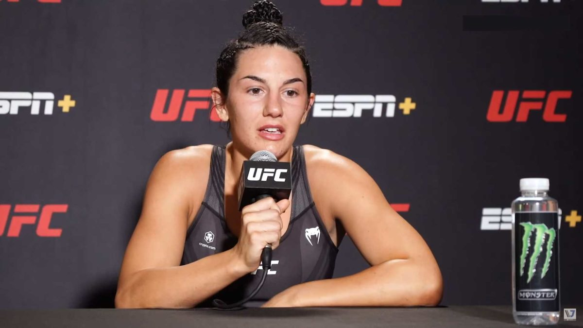 Cheyanne Buys post interview of ufc vegas 33